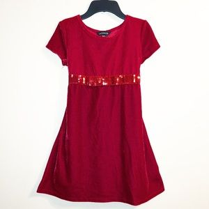 Other - Red Velvet sequin Holiday Christmas dress